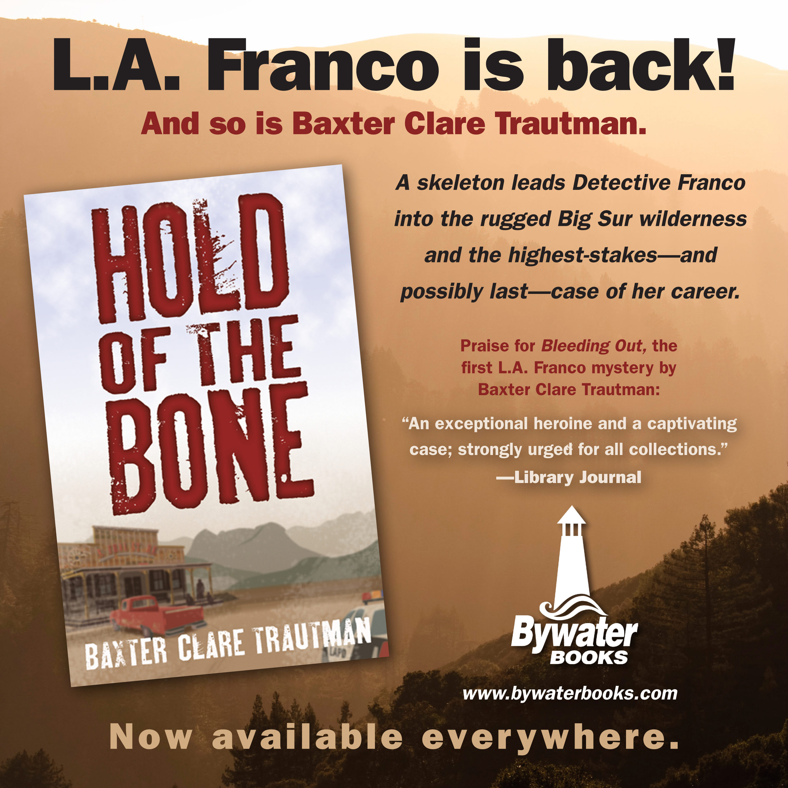 Baxter Clare Trautman is a Lambda finalist for her LA Franco mystery  series. She grew up half wild in the Central American tropics, moved back  to the States ...